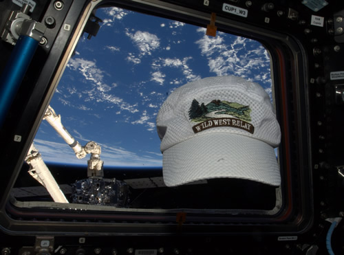WWR hat on space station